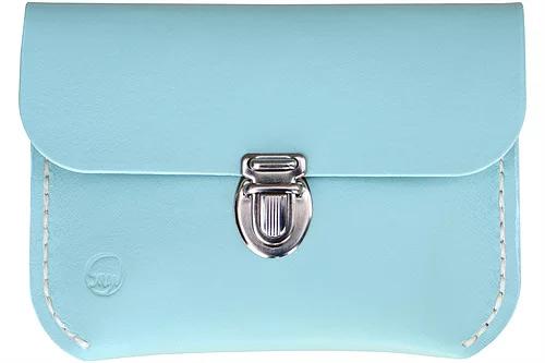 Kernelæderpung The Fairy Collection i blå og kliklås i sølv