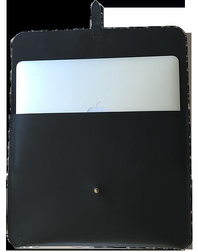 Macbook sleeve i sort