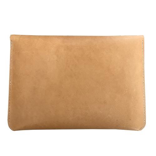 "Macbook sleeve 13"" natur kernelæder"