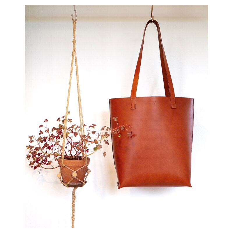Rød shopper taske fra Solon Handmade