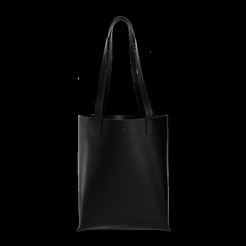 Sort shopper enkelt og minimalistisk til indkøb eller studie