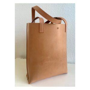 Shopper taske i natur læder fra Solon Handmade