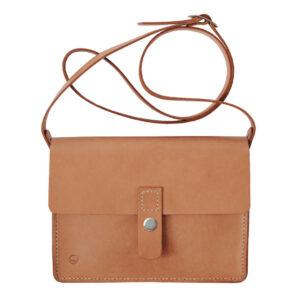 satchel taske i natur kernelæder fra Solon Handmade